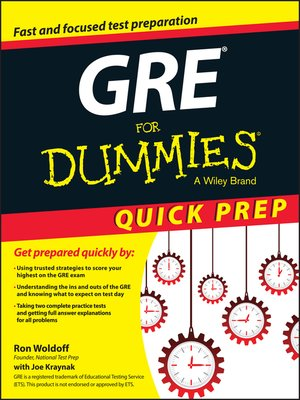 cover image of GRE For Dummies