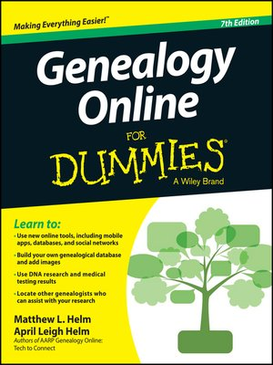 cover image of Genealogy Online For Dummies
