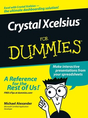 cover image of Crystal Xcelsius For Dummies