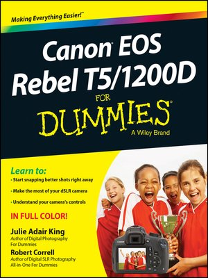 cover image of Canon EOS Rebel T5/1200D For Dummies