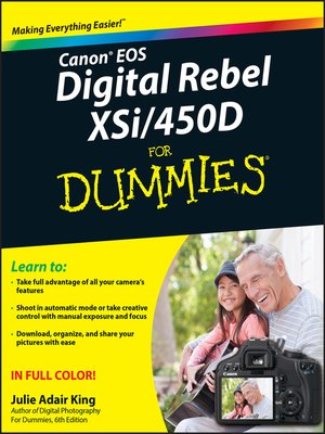 cover image of Canon EOS Digital Rebel XSi/450D For Dummies