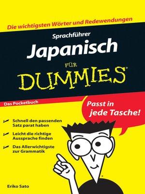 cover image of Sprachführer Japanisch für Dummies