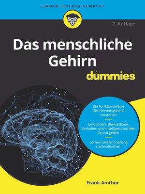 cover image of Das menschliche Gehirn für Dummies