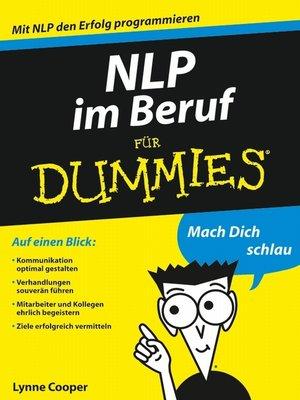 cover image of NLP im Beruf für Dummies