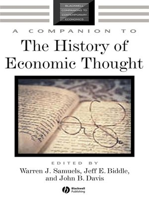 cover image of A Companion to the History of Economic Thought