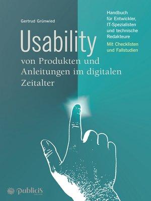 cover image of Usability von Produkten und Anleitungen im digitalen Zeitalter