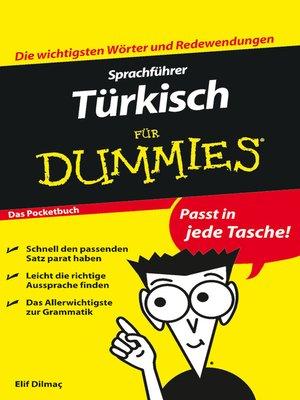 cover image of Sprachführer Türkisch für Dummies Das Pocketbuch