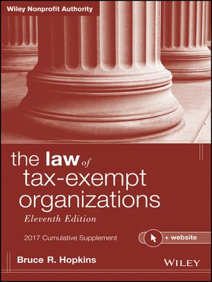 cover image of The Law of Tax-Exempt Organizations, 2017 Cumulative Supplement