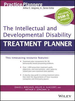 cover image of The Intellectual and Developmental Disability Treatment Planner, with DSM 5 Updates