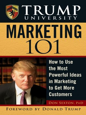 cover image of Trump University Marketing 101
