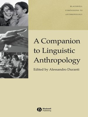 cover image of A Companion to Linguistic Anthropology