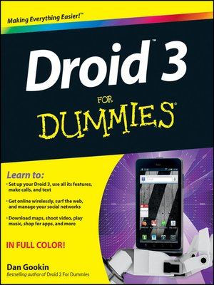 cover image of Droid 3 For Dummies