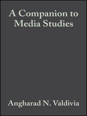 cover image of A Companion to Media Studies
