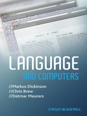 cover image of Language and Computers