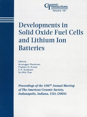 cover image of Developments in Solid Oxide Fuel Cells and Lithium Iron Batteries