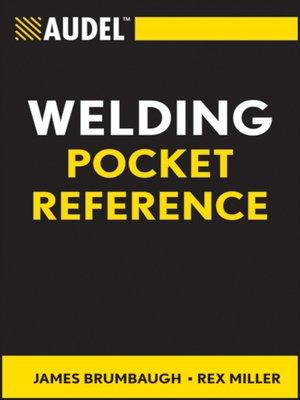 cover image of Audel Welding Pocket Reference