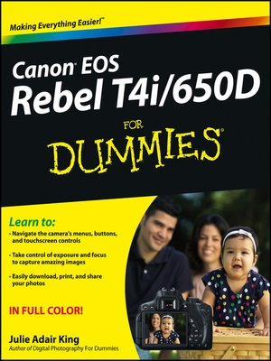 cover image of Canon EOS Rebel T4i/650D For Dummies