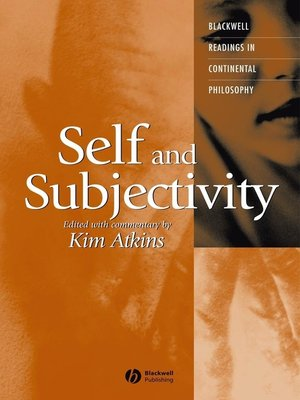 cover image of Self and Subjectivity