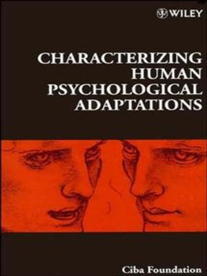 cover image of Characterizing Human Psychological Adaptations