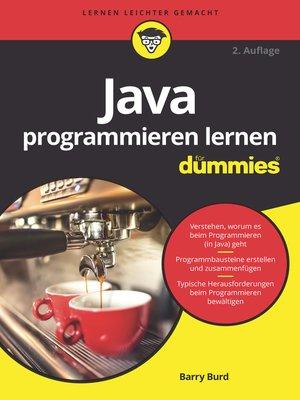 cover image of Java programmieren lernen für Dummies