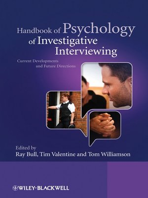 cover image of Handbook of Psychology of Investigative Interviewing