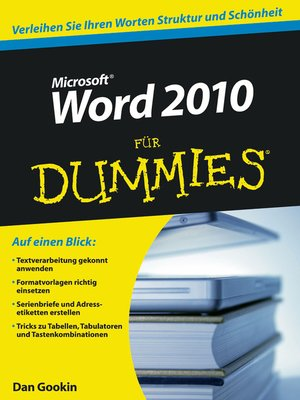 cover image of Word 2010 für Dummies