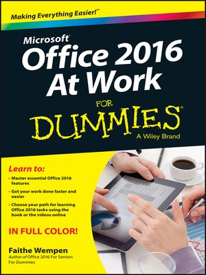 cover image of Office 2016 at Work For Dummies