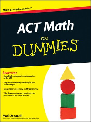 cover image of ACT Math For Dummies
