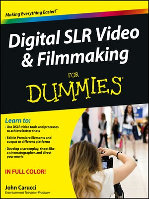 cover image of Digital SLR Video and Filmmaking For Dummies