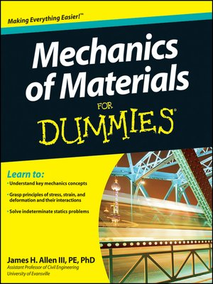 cover image of Mechanics of Materials For Dummies