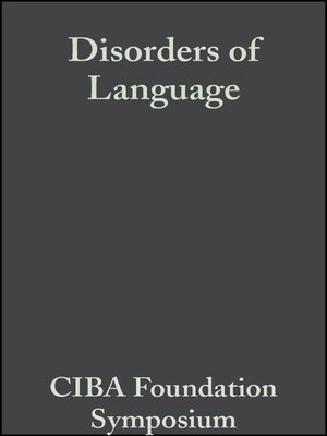 cover image of Disorders of Language