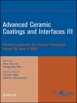 cover image of Advanced Ceramic Coatings and Interfaces III