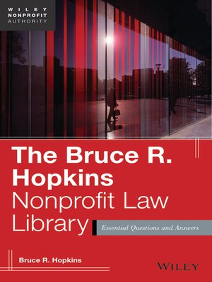 cover image of The Bruce R. Hopkins Nonprofit Law Library
