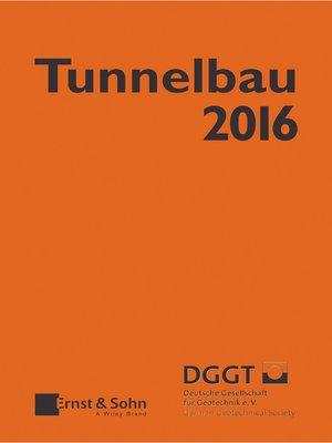 cover image of Taschenbuch für den Tunnelbau 2016