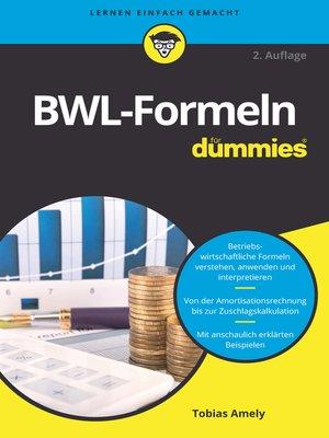 cover image of BWL-Formeln für Dummies