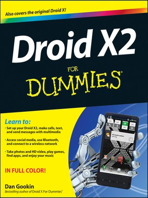 cover image of Droid X2 For Dummies