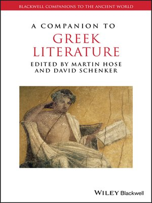 cover image of A Companion to Greek Literature