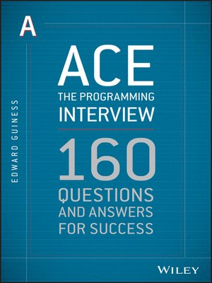 cover image of Ace the Programming Interview