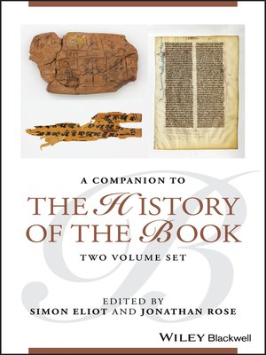 cover image of Companion to the History of the Book