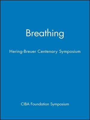 cover image of Ciba Foundation Symposium--Breathing--Hering-Breuer Centenary Symposium