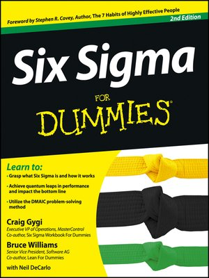 cover image of Six Sigma For Dummies