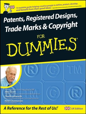 cover image of Patents, Registered Designs, Trade Marks and Copyright For Dummies