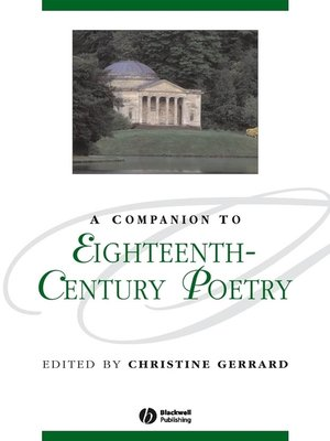 cover image of A Companion to Eighteenth-Century Poetry