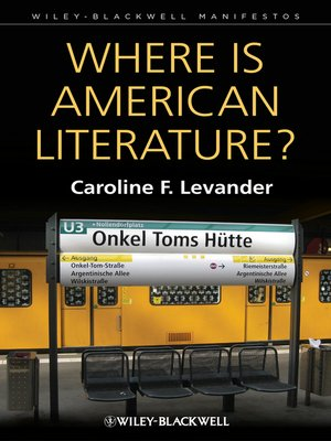 cover image of Where is American Literature