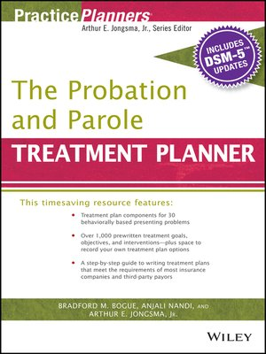 cover image of The Probation and Parole Treatment Planner, with DSM 5 Updates