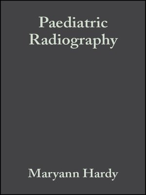 cover image of Paediatric Radiography