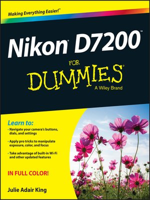 cover image of Nikon D7200 For Dummies