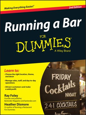 cover image of Running a Bar For Dummies