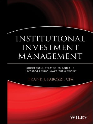 cover image of Institutional Investment Management