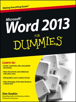 cover image of Word 2013 For Dummies